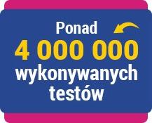 4 mln testów nifty